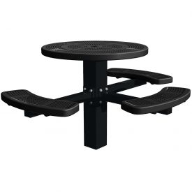 """46"""" Single Post Round Picnic Table (ADA) Perforated Metal"""