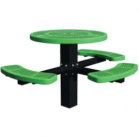 "46"" Single Post Round Picnic Table (ADA) Perforated Metal"