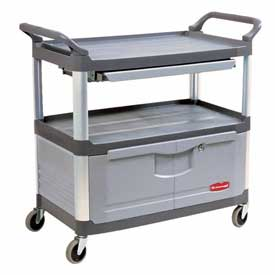 Rubbermaid® Xtra™ 4094 Gray Instrument Cabinet Cart & Sliding Shelf