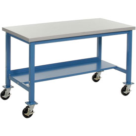 72 x 24 Mobile Plastic Square Edge Lab Bench