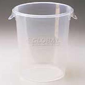 """Rubbermaid Commercial RCP572424CLE- Storage Container, Round 8 Qt., 10"""" Dia. x 10-5/8""""H"""