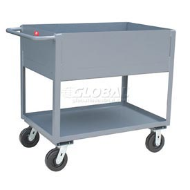 Jamco Extra Deep Shelf All Welded Steel Service Cart NB248 2000 Lb. Cap.