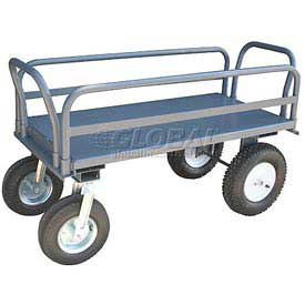 Jamco High Steel Deck Platform Truck EU472 with Side Rails 2500 Lb. Cap.