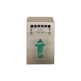 Wall Mount Bin Outdoor Ashtray Stainless Steel