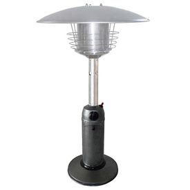 Hiland Patio Heater HLDS032-C Propane 11000 BTU Tabletop Silver Steel