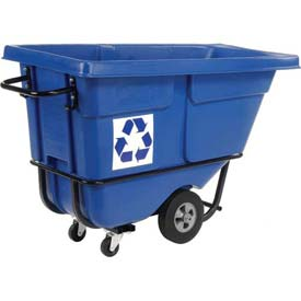 Rubbermaid® 1305-73 Standard Duty 1/2 Cu Yd Tilt Truck - We Recycle Logo