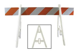 Econocade Traffic Barricade A-Frame 6 Ft With 1 Rail