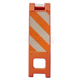 "Narrowcade Barricade Sign Stand 45""H With 2 Panel 2 Sheetings"
