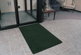 "Rubber Backed Barrier Rib Entrance Mat 2'X3' 3/8"" Thick Hunter Green"