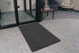 "Rubber Backed Barrier Rib Entrance Mat 3'X5' 3/8"" Thick Charcoal"