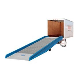 "Bluff® 25SYS8436L Steel Yard Ramp Forklift Dock Ramp 36'Lx84""W 25,000 Lb. with Ramp Clamps"