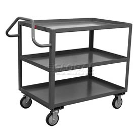 Jamco 3 Shelf Ergonomic Service Cart ET230 1200 Lb. Capacity 24 x 30