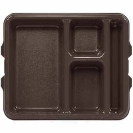 Cambro 9114CP167 - Tray 4 Compartment 9 x 11, Brown - Pkg Qty 24