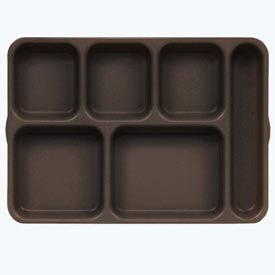 Cambro 10146DCP167 - Tray 6  Compartment,  Deep, Brown - Pkg Qty 24