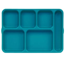 Cambro 10146DCP414 - Tray 6  Compartment,  Deep, Teal - Pkg Qty 24