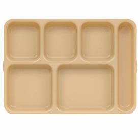 "Cambro 10146DCW133 - Tray, 6 Compartments, Deep, Beige, 10"" x 14"" x 1-3/8"" - Pkg Qty 24"