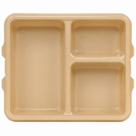 Cambro 9113CW133 - Tray 3 Compartment Deep, Beige - Pkg Qty 24