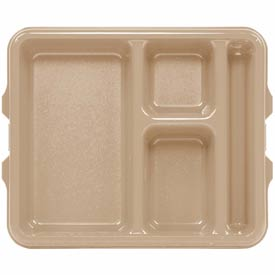 Cambro 9114CP161 - Tray 4 Compartment 9 x 11, Tan - Pkg Qty 24