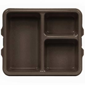 Cambro 9113CP167 - Tray 3 Compartment Deep, Brown - Pkg Qty 24