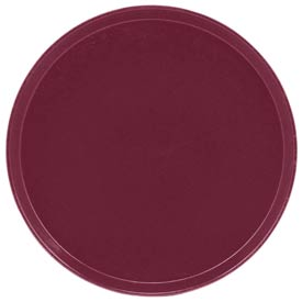 "Cambro 1950522 - Camtray 19.5"" Round Low,  Burgundy Wine - Pkg Qty 12"