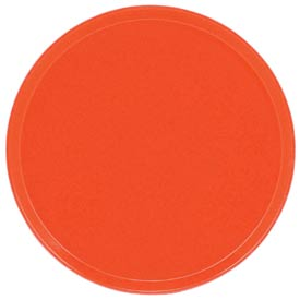 "Cambro 1950222 - Camtray 19.5"" Round Low,  Orange Pizazz - Pkg Qty 12"