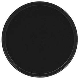 "Cambro 1550110 - Camtray 15.5"" Round Low,  Black - Pkg Qty 12"