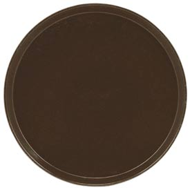 "Cambro 1550116 - Camtray 15.5"" Round Low,  Brazil Brown - Pkg Qty 12"
