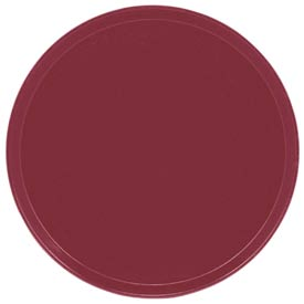 "Cambro 1550505 - Camtray 15.5"" Round Low,  Cherry Red - Pkg Qty 12"