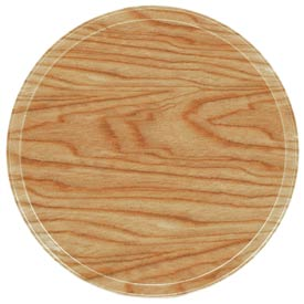 "Cambro 1950307 - Camtray 19.5"" Round Low,  Light Elm - Pkg Qty 12"