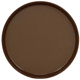 "Cambro PT1100167 - Tray Polytread 11"" Round,  Brown - Pkg Qty 12"