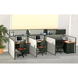 "Pre-Configured Call Center Starter, 48""W x 48""D, Gray"
