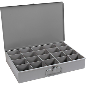 Durham Steel Scoop Compartment Box 111-95 - 20 Compartments - Pkg Qty 4