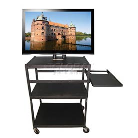 Buhl Flat Panel Monitor Cart with Pull Out & Pull Forward Shelf