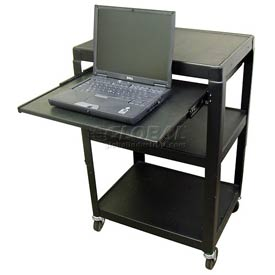 Buhl Steel Audio Visual Cart with Pull Out Shelf