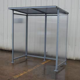 Bus Smoking Shelter Flat Roof With Three Sided Open Front 6-1/2' X 4'2""