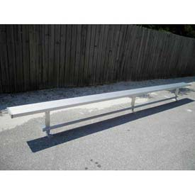 15' Aluminum Park Bench Without Back, Portable and/or Surface Mount