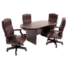 "Regency Conference Table - Racetrack 120""L x 47""W x 29""H - Mahogany"