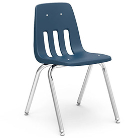 Virco® 9018 Classic Series™ Classroom Chair - Navy Vented Back - Pkg Qty 4