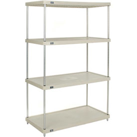 "Plastic Shelving Unit 36""Wx18""Dx86""H Solid Shelf"