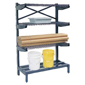 "Cantilever Rack Shelving 72"" W x 24"" D x 72"" H, 600 Lbs Capacity"