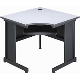"Interion™ 36"" Corner Desk Gray"