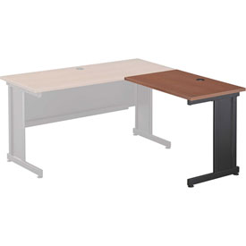 Interion™ Right Handed Return Table - Cherry Top & Charcoal Base