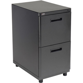 Interion™ 2 Drawer Pedestal File/File - Charcoal