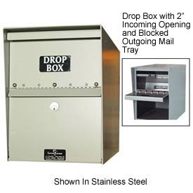 "Jayco LL1STD-DRP Standard Drop Box Locker 1"" Incoming Slot and Envelope Slot Gray"