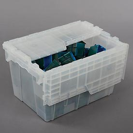 ORBIS Flipak® Attached Lid Container FP182 - 21-4/5 x 15-1/5 x 12-9/10, Clear - Pkg Qty 3