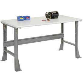 "60""W X 30""D X 34""H ESD Safety Edge Workbench - Gray"