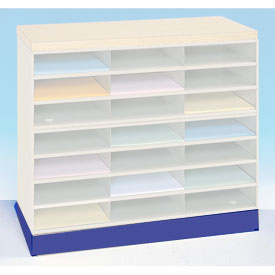 Optional Horizontal Literature Rack Base - Blue