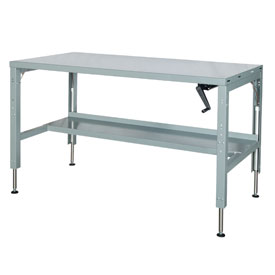 72 x 29 Hydraulic Ergonomic Workbench-Steel Top