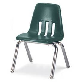 Virco® 9012 Classic Series™ Classroom Chair Forest Green Vented Back