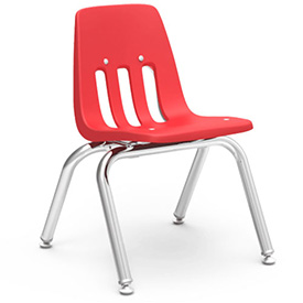 Virco® 9012 Classic Series™ Classroom Chair - Red Vented Back - Pkg Qty 4